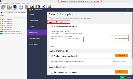 Avast Cleanup Activation Key 2018