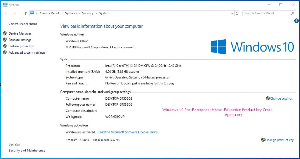 Windows 10 Pro X64 incl Office 19041.264 Serial Key 100% ...