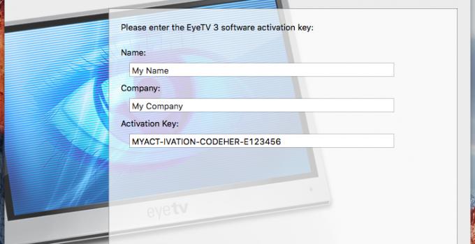 EyeTV 4 Activation Key
