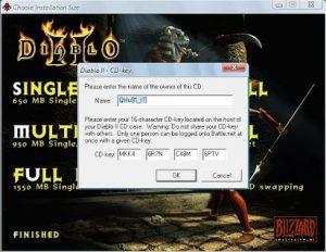 Diablo 2 Serial Key